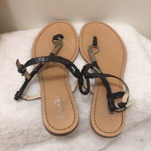 Coach sandals size 7.5 to 8M